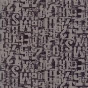 Compositions by Basic Grey - 5262 - Number Jumble, Black on Taupe - 30453 26 - Cotton Fabric
